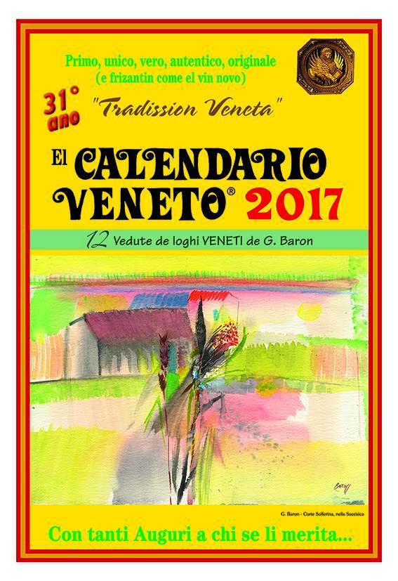 Calendario Veneto.El Calendario Veneto 2017 Gelindo Baron